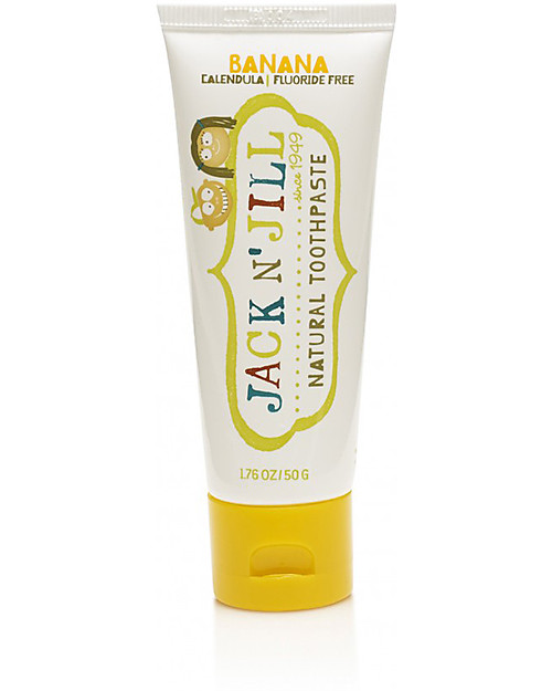 Jack 'n Jill Kids Toothpaste, Banana and Calendula, 50 g Toothpaste and Toothbrush
