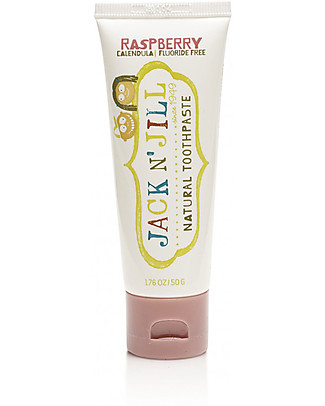 Jack 'n Jill Kids Toothpaste, Raspberry and Calendula, 50 g Toothpaste and Toothbrush