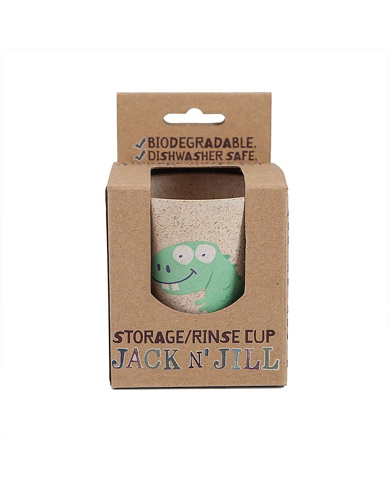 Jack N Jill Rinse Or Storage Cup Dino The Dinosaur Boy Silicone Tooth Brush Toothpaste And Toothbrush