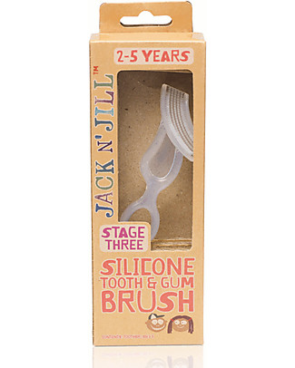 Jack 'n Jill Silicone Tooth and Gum Brush, for Babies from 2 to 5 years old Toothpaste and Toothbrush