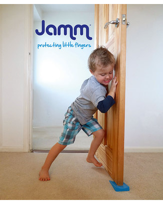 Jamm Jamm Doorstop - Honey - World Leading Patented Safety Design - Twin Pack Door Jams