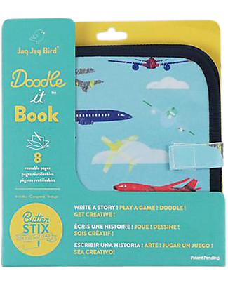Jaq Jaq Bird Chalk-A-Doodle Book - Aeroplane Creative Toys