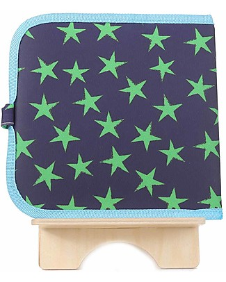 Jaq Jaq Bird Chalk-A-Doodle Book - Blue and Green Stars Travel Games