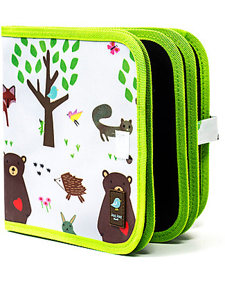 Jaq Jaq Bird Chalk-A-Doodle Book - Forest Colouring Activities