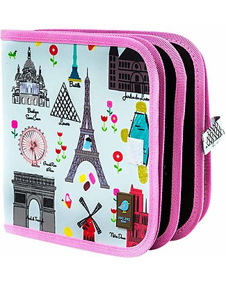 Jaq Jaq Bird Chalk-A-Doodle Book - Paris Colouring Activities