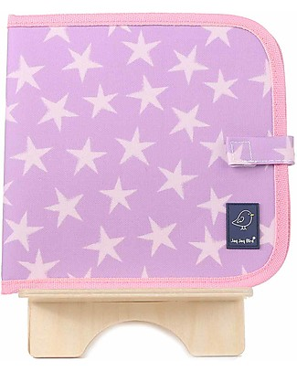 Jaq Jaq Bird Chalk-A-Doodle Book - Pink and Purple Stars Colouring Activities