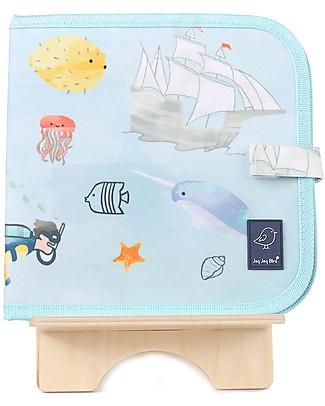 Jaq Jaq Bird Chalk-A-Doodle Book - Sea Life Travel Games