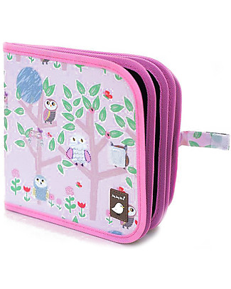 Jaq Jaq Bird Chalk-A-Doodle Book with 4 Zero Dust ButterStix - Owls on Trees Creative Toys