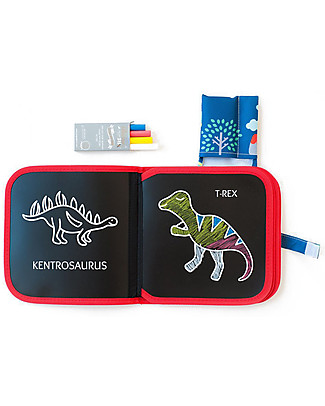 Jaq Jaq Bird Chalk-Color-It - Dinosaur Colouring Activities