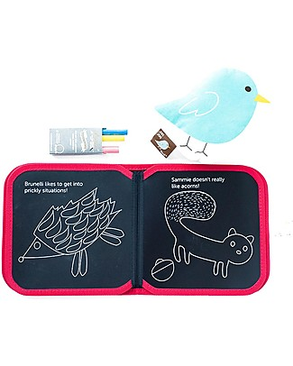 Jaq Jaq Bird Chalk-Color-It - Jaq Jaq Bird Colouring Activities