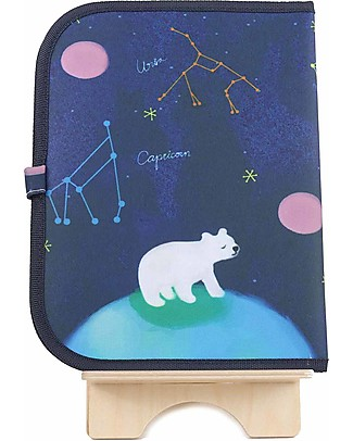 "Jaq Jaq Bird Doodle Mat 2in1 ""Draw and Eat"", Constellation - Includes 4 Butterstix Colouring Activities"