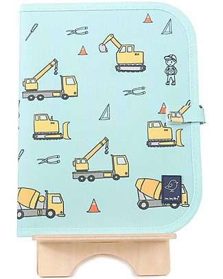 """Jaq Jaq Bird Doodle Mat 2in1 """"Draw and Eat"""", Construction - Includes 4 Butterstix Colouring Activities"""