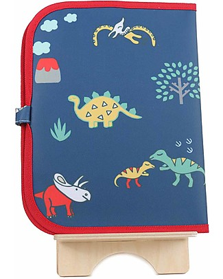 "Jaq Jaq Bird Doodle Mat 2in1 ""Draw and Eat"", Dinosaurs - Includes 4 Butterstix Meal Sets"