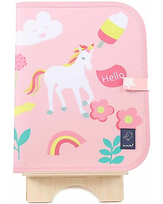"Jaq Jaq Bird Doodle Mat 2in1 ""Draw and Eat"", Unicorn - Includes 4 Butterstix Colouring Activities"