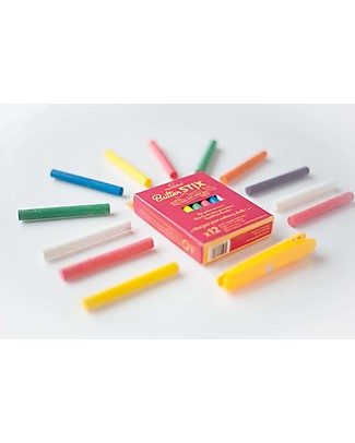 Jaq Jaq Bird Zero Dust ButterStix Chalks with Holder - Multicolor - New Packaging and Colors! Creative Toys