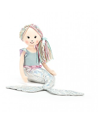 JellyCat Aqua-Lily Mermaid Soft Toy - 19 cm - Cute and sweet Soft Toys