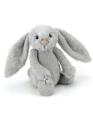 JellyCat Bashful Bunny Soft Toy, Silver (Medium) - 31 cm - Cute and funny null