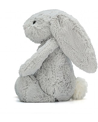 JellyCat Bashful Bunny Soft Toy, Silver (Small) - 18 cm - Cute and funny Soft Toys