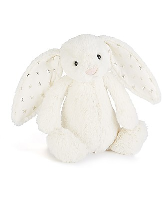 JellyCat Bashful Twinkle Bunny, White (Medium) - 31 cm - Cute and funny null