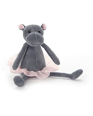 JellyCat Dancing Darcey Hippo Soft Toy - 23 cm - Cute and Funny Soft Toys