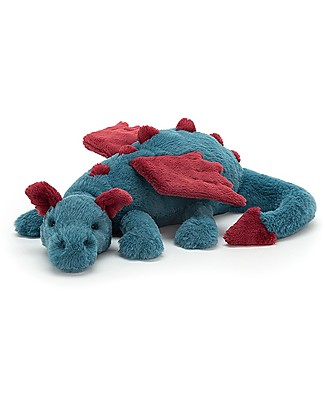 JellyCat Dexter Dragon Soft Toy - 50 cm - Soft and funny! Soft Toys