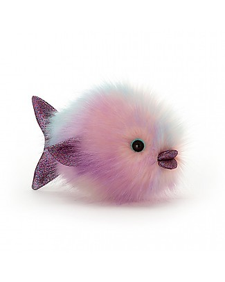JellyCat Disco Fish Pastel Soft Toy - 21 cm - Soft and funny! Soft Toys