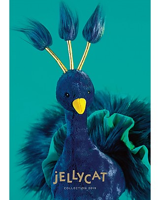 JellyCat Electra Plume Peacock Soft Toy - 40 cm - Soft and funny! Soft Toys
