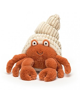 JellyCat Herman Hermit Crab Soft Toy - 29 cm - Soft and funny! Soft Toys