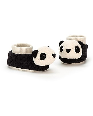 JellyCat Pippet Panda Booties 0-6 months - Super soft and warm! Slippers