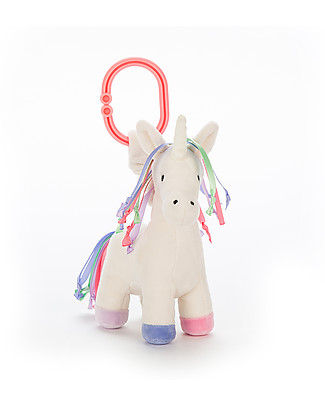 JellyCat Soft Toy with Jittering Motion Unicorn Lollopylou - 15 cm - Super soft! Teethers