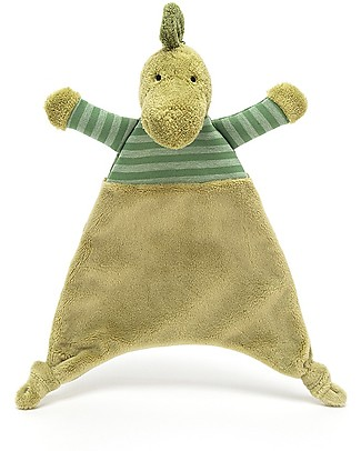 JellyCat Stripey Dino Soother - Super soft baby toy! Doudou & Comforters