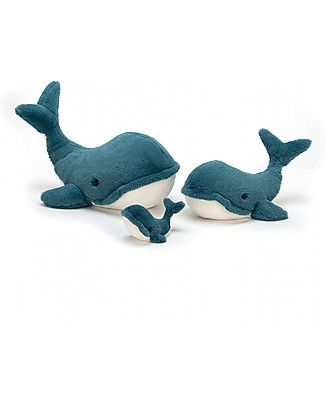 JellyCat Wally Whale Soft Toy, Medium - 35 cm - Soft and funny! Soft Toys
