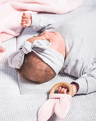 Jollein Baby Headband Dots, Grey - Organic Cotton Hair Accessories