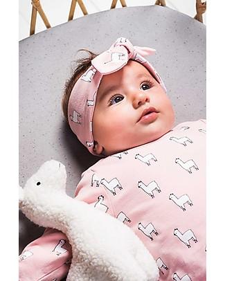 Jollein Baby Headband  Lama, Blush Pink - Organic Cotton Hair Accessories