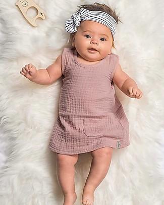 Jollein Baby Headband  Stripes, Black - Organic Cotton Hair Accessories