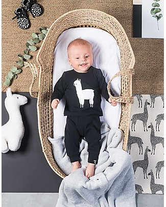 Jollein Baby Pants Lama, Black&White - Organic Cotton Trousers