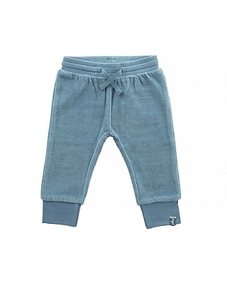 Jollein Baby Pants Velour, Teal - Organic cotton Trousers