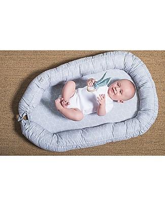 Jollein Babynest Graphic Grey - 40x70 cm Baby Nest