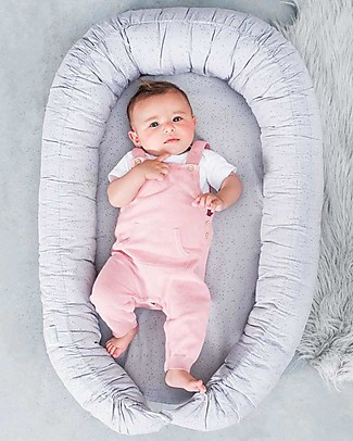 Jollein Babynest Mini Dots Grey - 40x70 cm Baby Nest