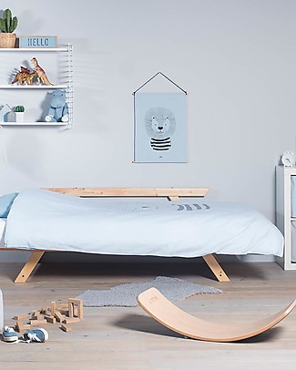 Jollein Bedding Set Duvet Cover and Pillowcase Wild Animals, Soft Blue - 140x200 cm - 100% cotton Duvet Sets