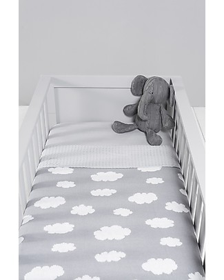 Jollein Blanket for Crib, Grey with Clouds -  75x100 cm Blankets