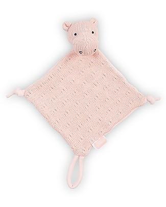 Jollein Blankie Soft Knit Hippo -17x17 cm- Creamy Peach Soft Toys