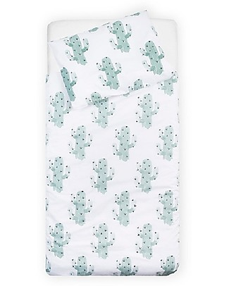 Jollein Cactus Duvet Cover and Pillowcase Set - 140x200 cm - 100% cotton Duvet Sets
