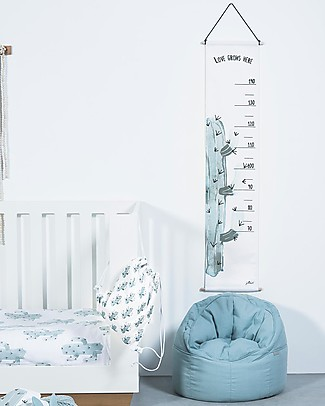 Jollein Canvas Growth Chart, Cactus - 70 to 140 cm! Room Decorations