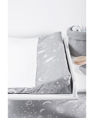 Jollein Changing Mat Cover, Galaxy Grey - 50x70 cm - 100% cotton Changing Mats And Covers