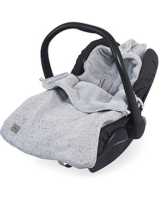 Jollein Comfortbag for Car Seat, Pile Fabric - Grey Stroller Accessories