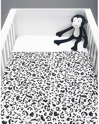 Jollein Cot Duvet Cover and Pillowcase Set, Leopard - 100x140 cm - 100% cotton Duvet Sets