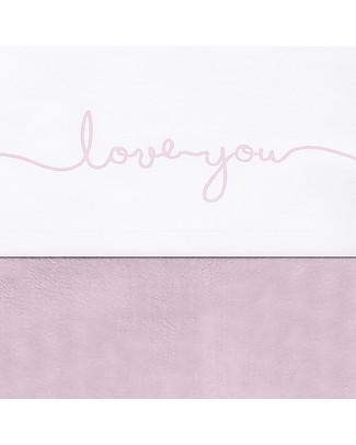 Jollein Cot Sheet Love You, Vintage Soft Pink - 120x150 cm - 100% cotton null