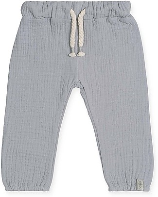 Jollein Cotton Wrinkled Pants, Grey Trousers