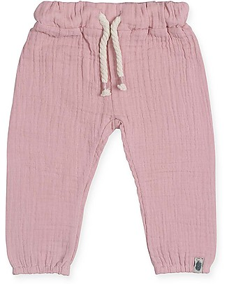 Jollein Cotton Wrinkled Pants, Pink  Trousers